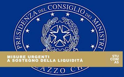Misure urgenti a sostegno della liquidità