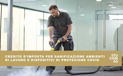 Credito d'imposta per sanificazione ambienti di lavoro